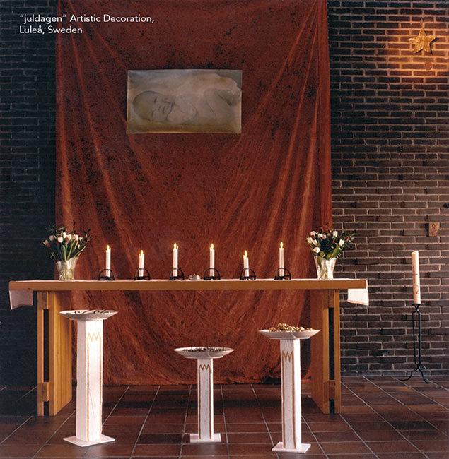 juldagen, utsmyckning, fotografi, Bergnäskyrkan, Norrbotten, Sverige