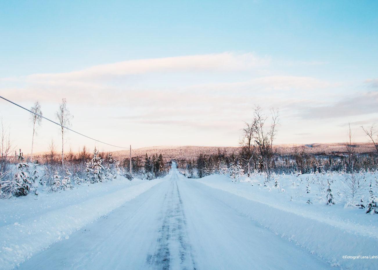 vinterväg i Alträsk Norrbotten