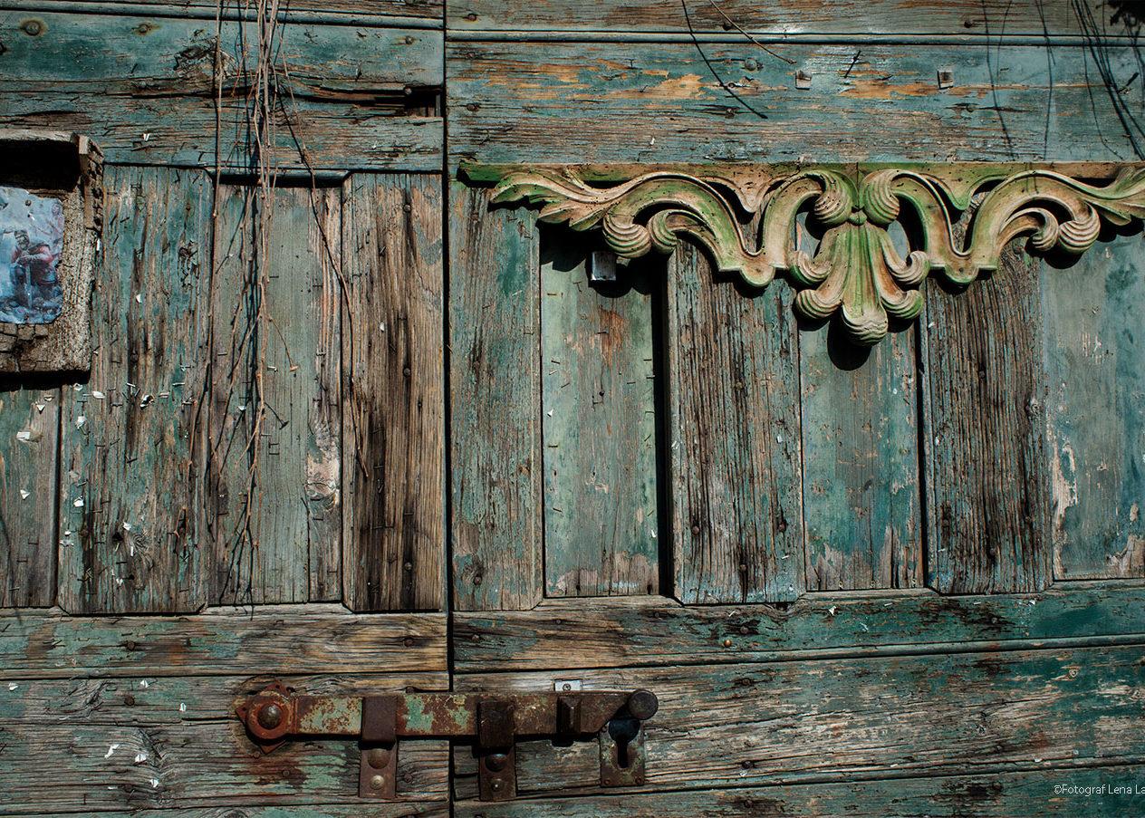 sliten dörr i Rom